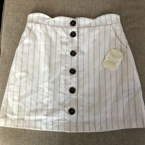 Altar'd State White Button Mini Skirt NWT Small